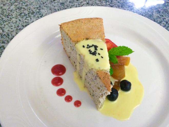 black sesame chiffon cake | toni woo + food